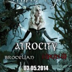 Leaves' Eyes, Atrocity, Brocelian, Darcanum 03.05.14 Backstage, München