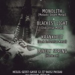 IN(n)FEST feat. Monolith, Blackest Light, Krankheit, Lonely Spring 09.08.14 Zeughaus, Passau