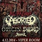 Aborted, Origin, Exhumed, Miasmal 04.12.2014 Viper Room, Wien