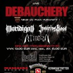 Debauchery, Moridigan, Athorn, Inquiring Blood 22.08.15 Musiktheater BAD, Hannover