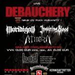 Debauchery, Moridigan, Athorn, Inquiring Blood 22.08.15 Musiktheater BAD, Hannover