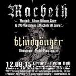 Macbeth, Blindgänger 12.09. 2015 From Hell, Erfurt – Bindersleben, Thüringen