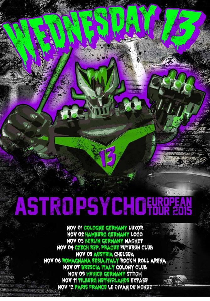 Wednesday 13 Tour 2016