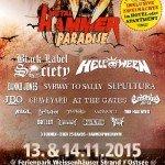 Metal Hammer Paradise 2015 13.11. – 14.11.15 Ferienpark, Weissenhäuser Strand