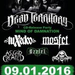 Dead Territory, TuXedoo, Mosfet, Uzziel, As God Created, Faceless Enemy 09.01.16 Bauhof, Pettenbach
