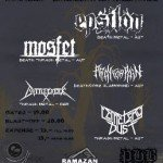 EPSILON, MOSFET, PRAY FOR PAIN, BATTLECREEK, CEMETERY DUST 30.04.16 Rockbar, Bramberg am Wildkogel
