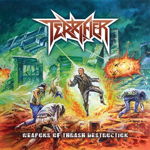 TERRIFIER - Weapons of Thrash Destruction album artwork, TERRIFIER - Weapons of Thrash Destruction album cover, TERRIFIER - Weapons of Thrash Destruction cover artwork, TERRIFIER - Weapons of Thrash Destruction cd cover