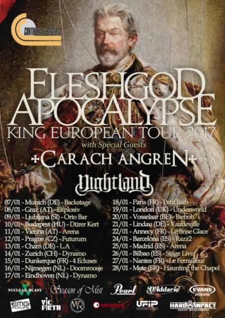 fleshgod apocalypse tour flyer 2017