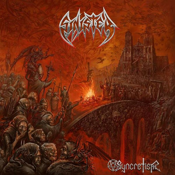 sinister - Syncretism album artwork, sinister - Syncretism album cover, sinister - Syncretism cover artwork, sinister - Syncretism cd cover, massacre records, death metal