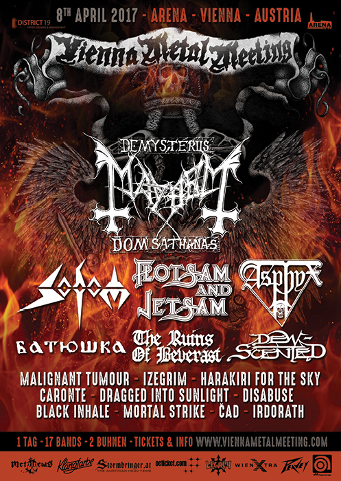 vienna metal meeting 2017 festival flyer, vienna metal meeting 2017 festivalflyer