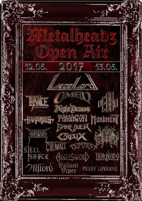 Metalheadz Open Air 2017 festival flyer, Metalheadz Open Air 2017 festivalflyer