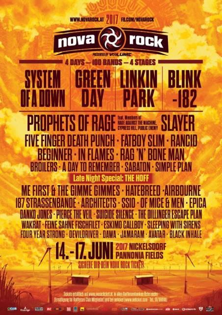 nova rock 2017 festival flyer, nova rock 2017 festivalflyer