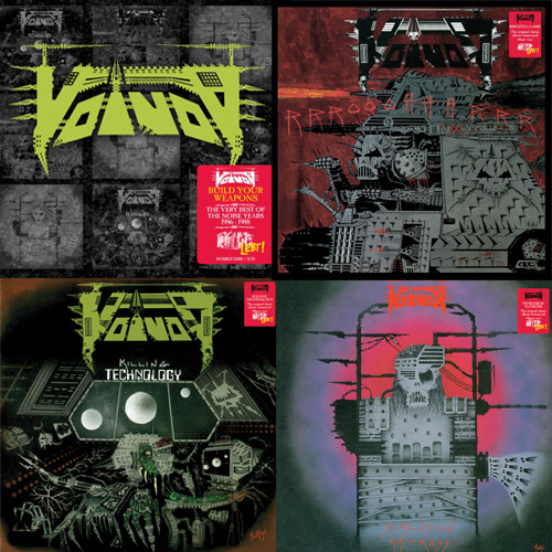 voivod - noise records releases album artwork