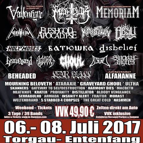 In Flamen Open Air Festival Flyer 2017, In Flamen Open Air Festivalflyer 2017