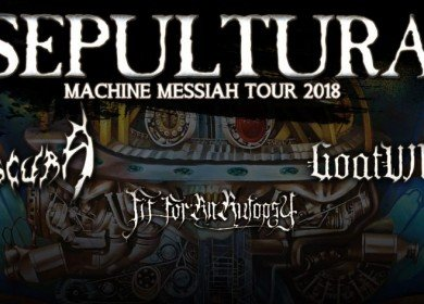 SEPULTURA, OBSCURE, GHOATWHORE, FIT FOR AN AUTOPSY 23.03.2018 ROCKHOUSE SALZBURG