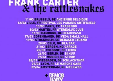 FRANK CARTER & THE RATTLESNAKES, Demob Happy, Woes 27.03.2018 Strom, München