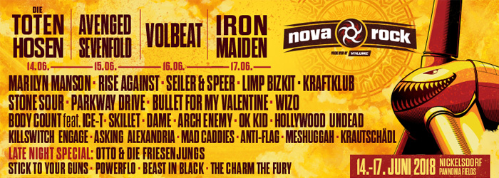 Nova Rock 2018 Day 3 16.06.18 Panonia Fields, Nickelsdorf