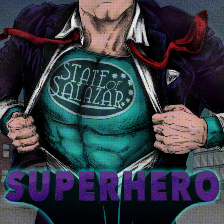 STATE-OF-SALAZAR-superhero-album-cover