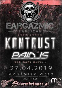 Eargazmic Festivals 2019 am 27.04.2019 in Graz @ Explosiv Graz