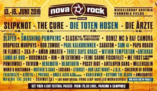 Nova Rock Festival 2019 Tag 4 16.06.19 Pannonia Fields