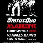 "STATUS QUO auf großer ""Backbone""-Tour2020"