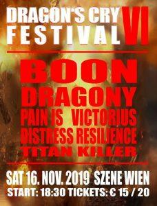 Dragons Cry Festival - WIEN, am 16.11.2019 @ Szene WIEN