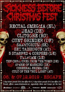 Sickness-Before-Christmas-Festival-07-12-19-escape-metalcorner-event-flyer