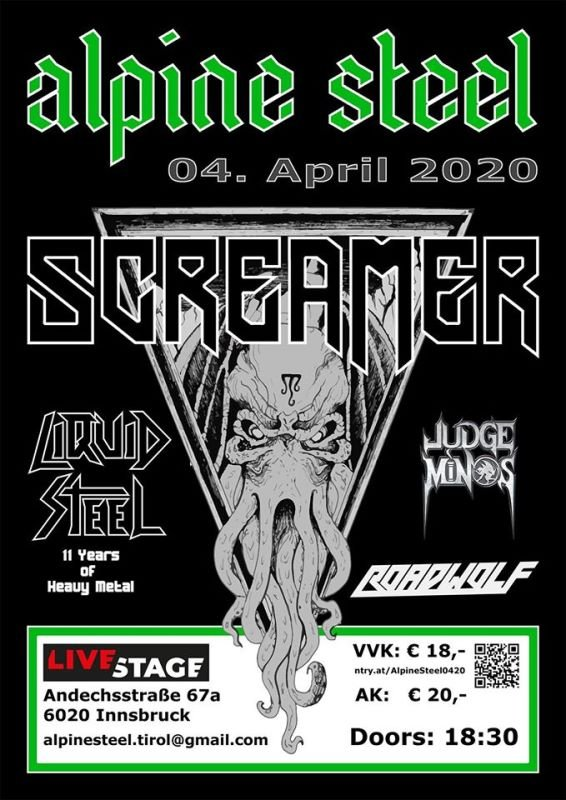 SCREAMER live 2020 Alpine Steel Innsbruck