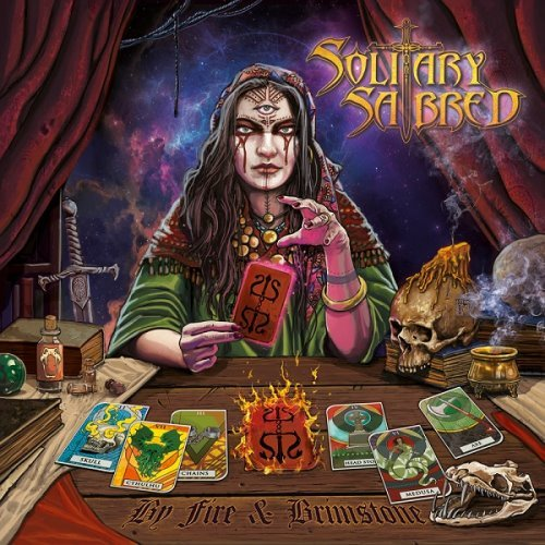 Solitary Sabred – By Fire And Brimstone album cover