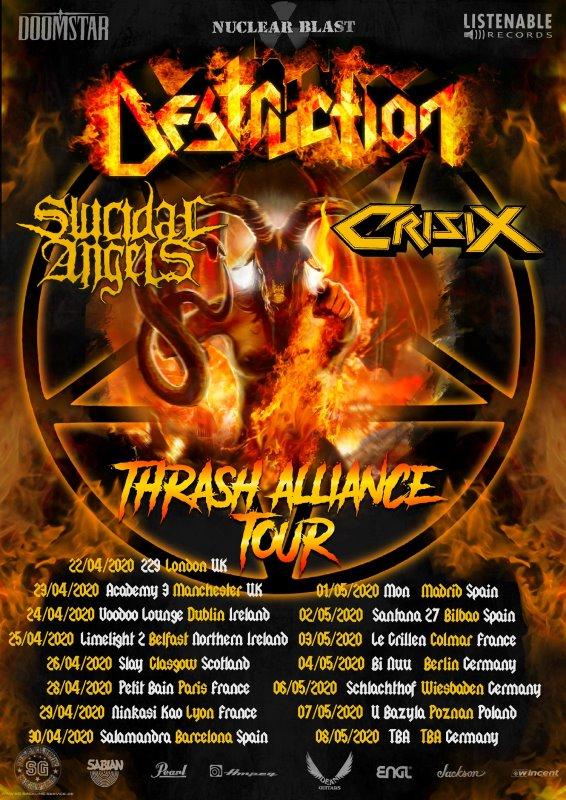 destruction - thrash alliance tour flyer 2020