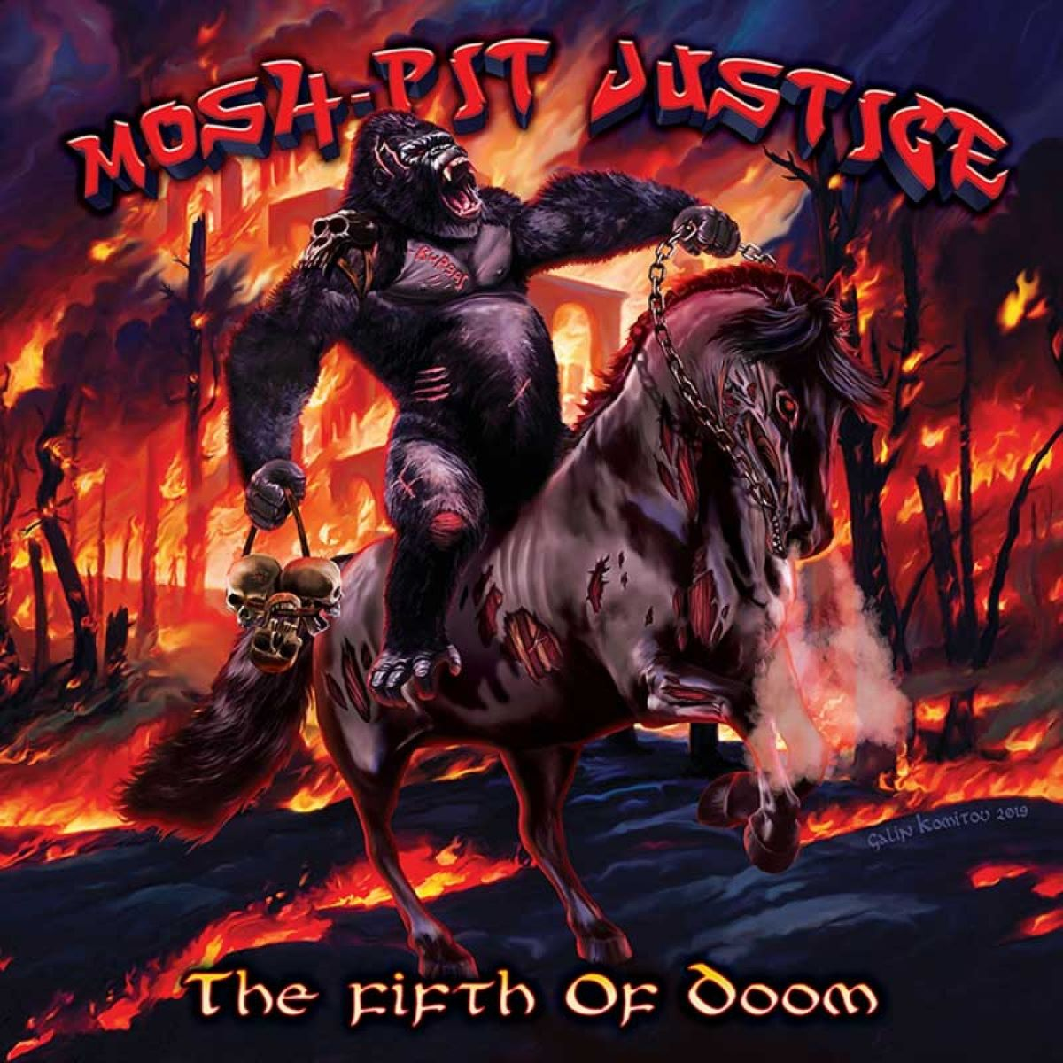 MOSH PIT JUSTICE - The Fifth Of Doom -album cover