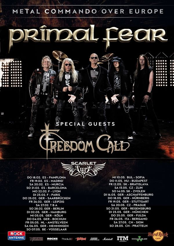 primal fear - tour flyer 2021