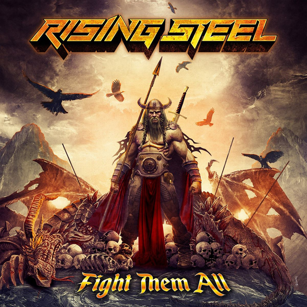 Rising Steel - Fight Them All - album cover