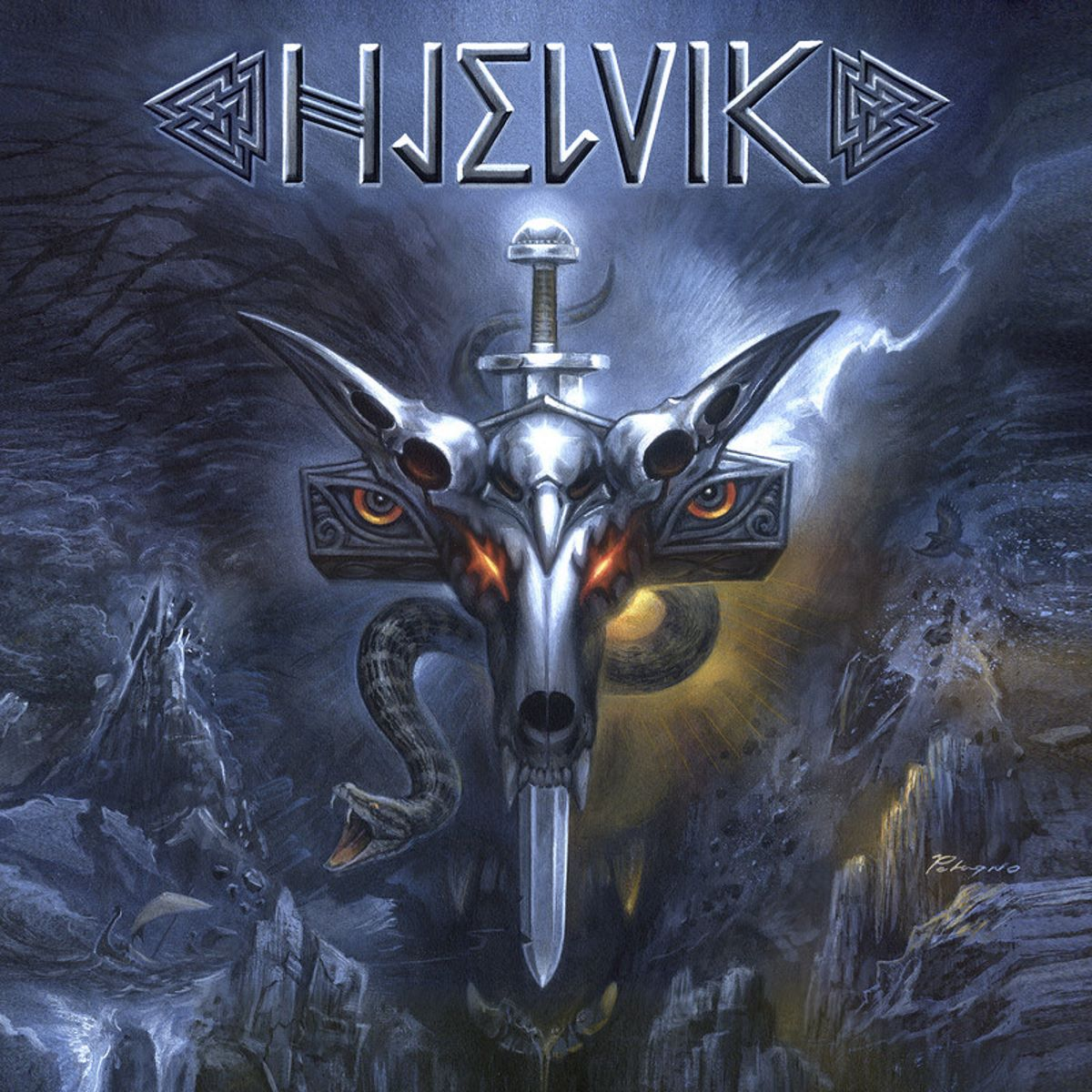 hjelvik - welcome to hel - album cover