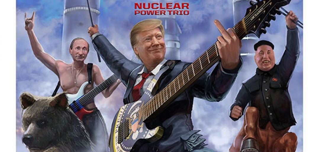 nuclear power trio - A Clear and Present Rager - album cover