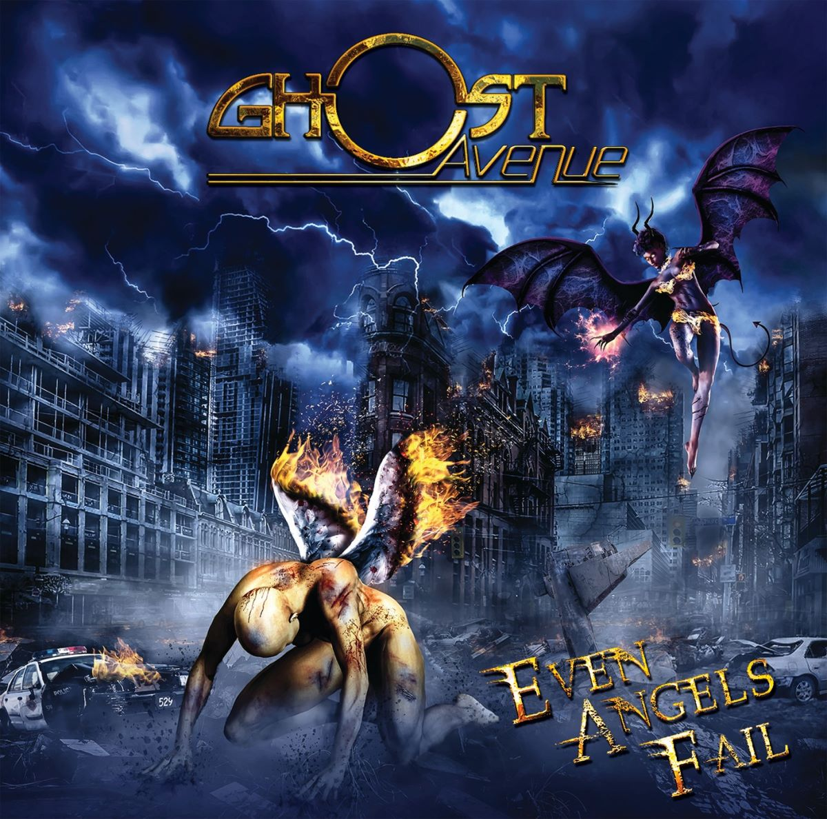 GHOST AVENUE - Even Angels Fail - album cover