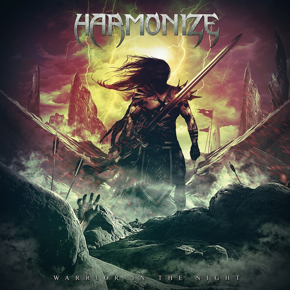 HARMONIZE - Warrior in the Night - album cover