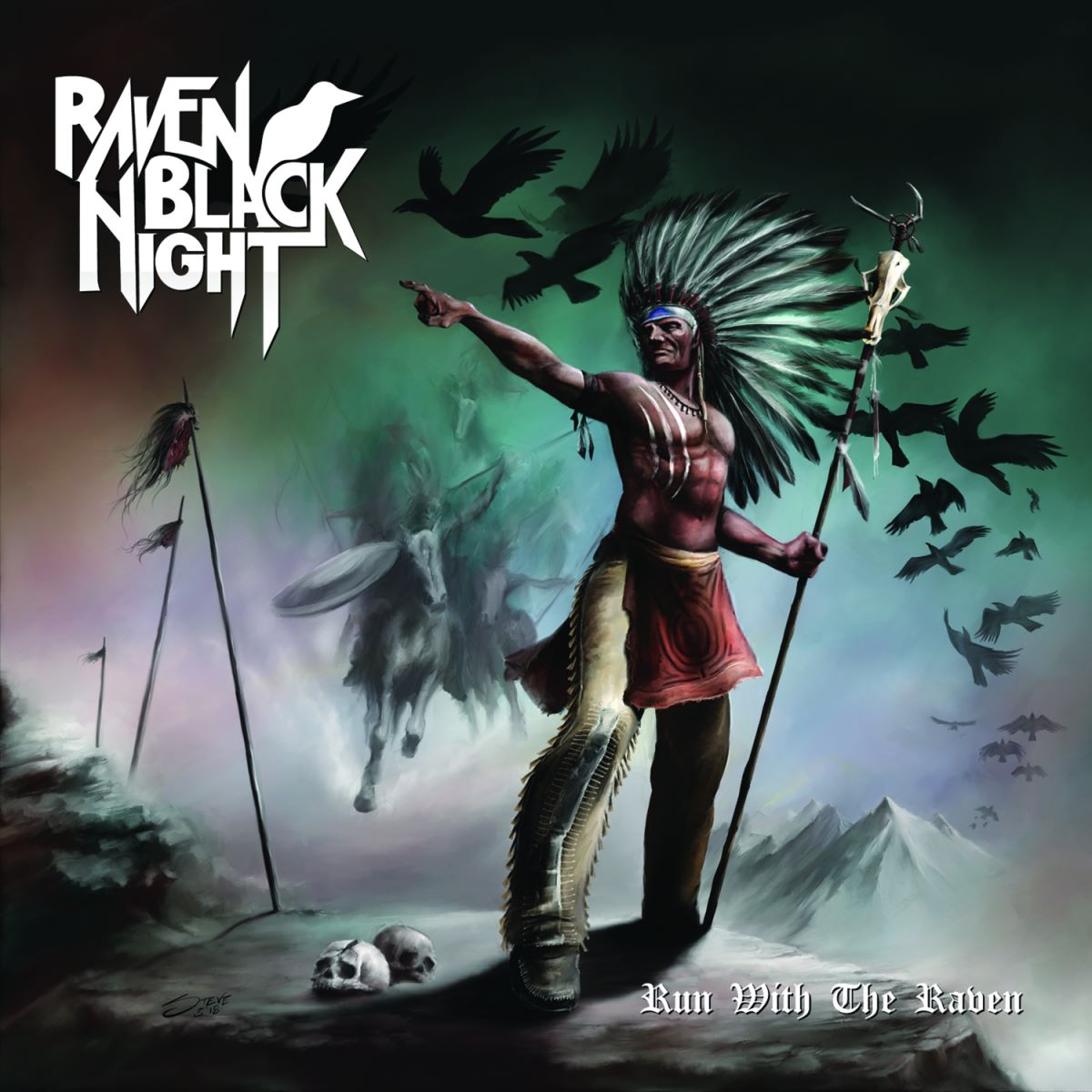 Raven Black Night - Run With The Raven - album cover
