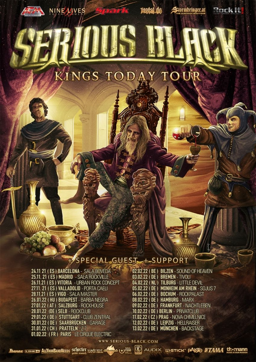 SERIOUS BLACK - kings today tour 2021- tourflyer