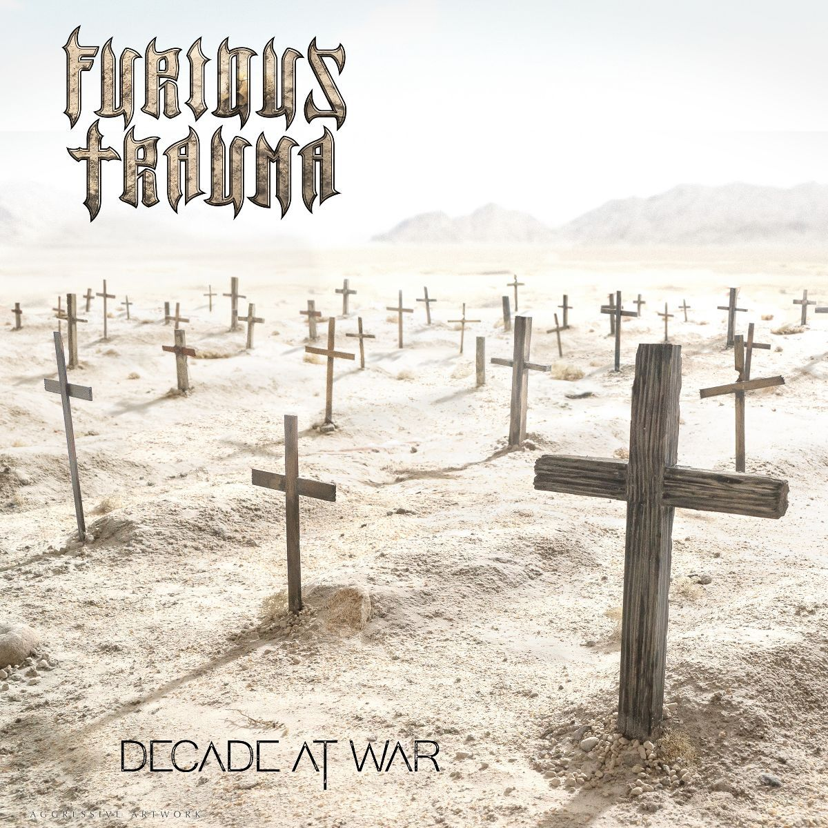 furious trauma - decade at war - album cover