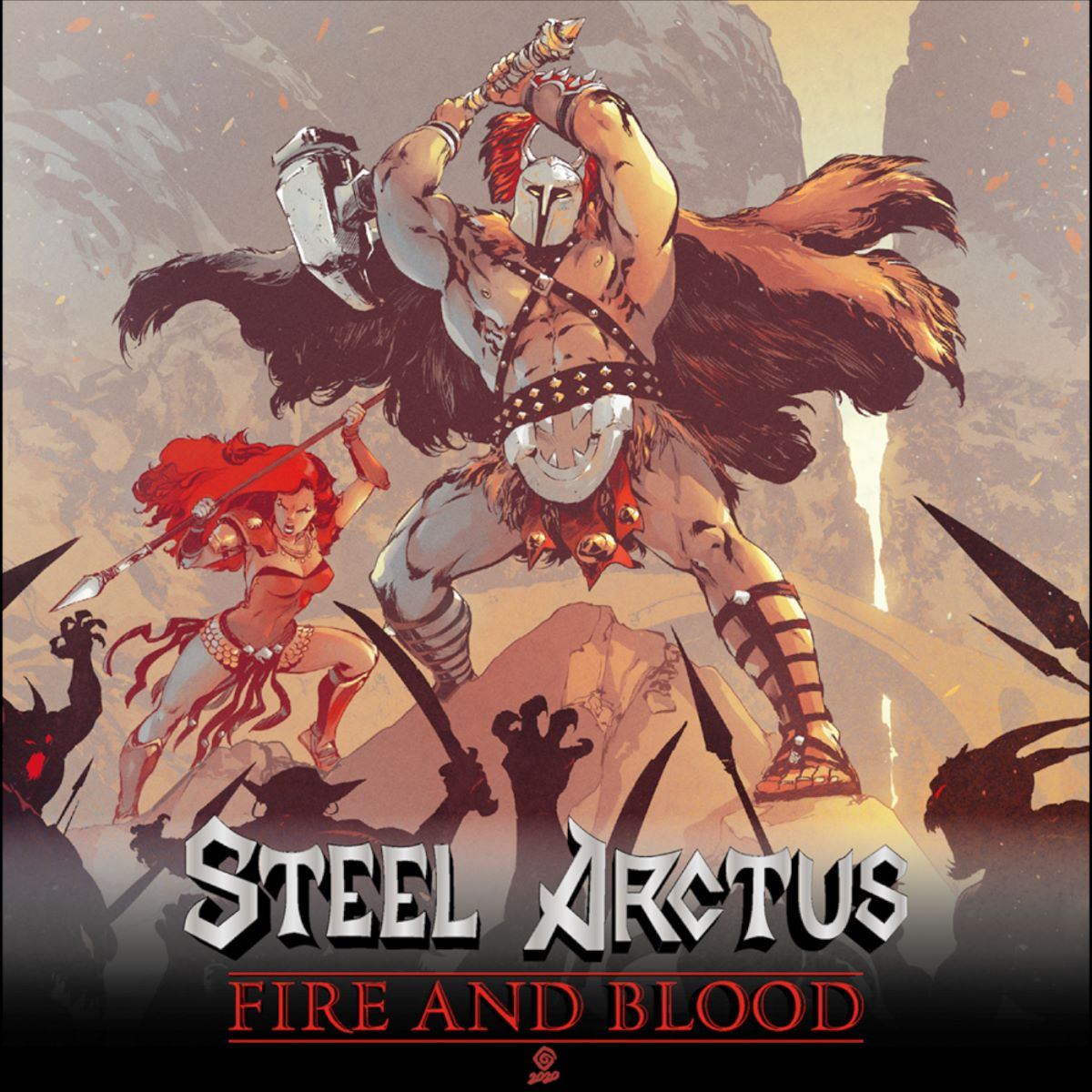 steel arctus - fire and blood - album cover