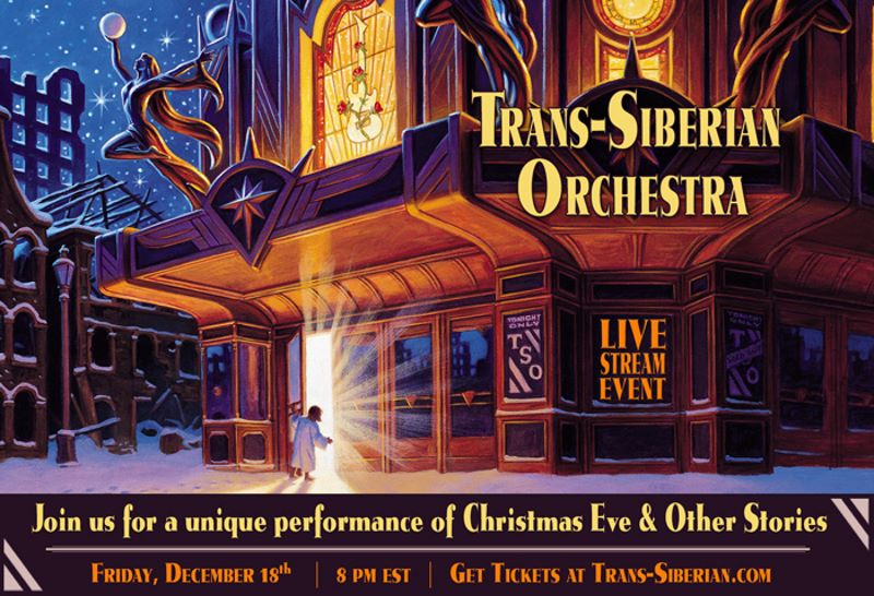 trans siberian orchestra - Christmas Eve and Other Stories Live in Concert - album cover