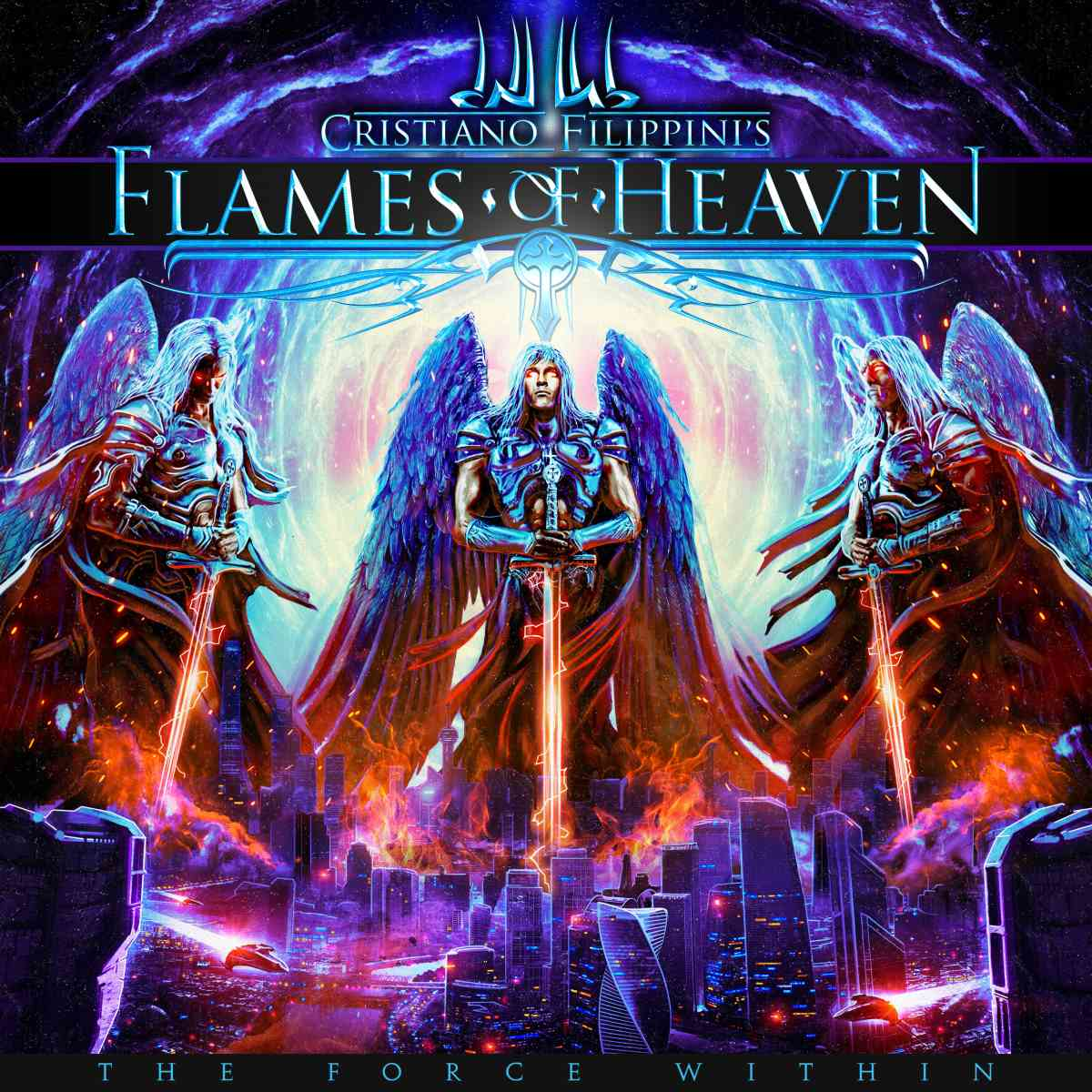 Cristiano Filippinis FLAMES OF HEAVEN - The Force Within - album cover