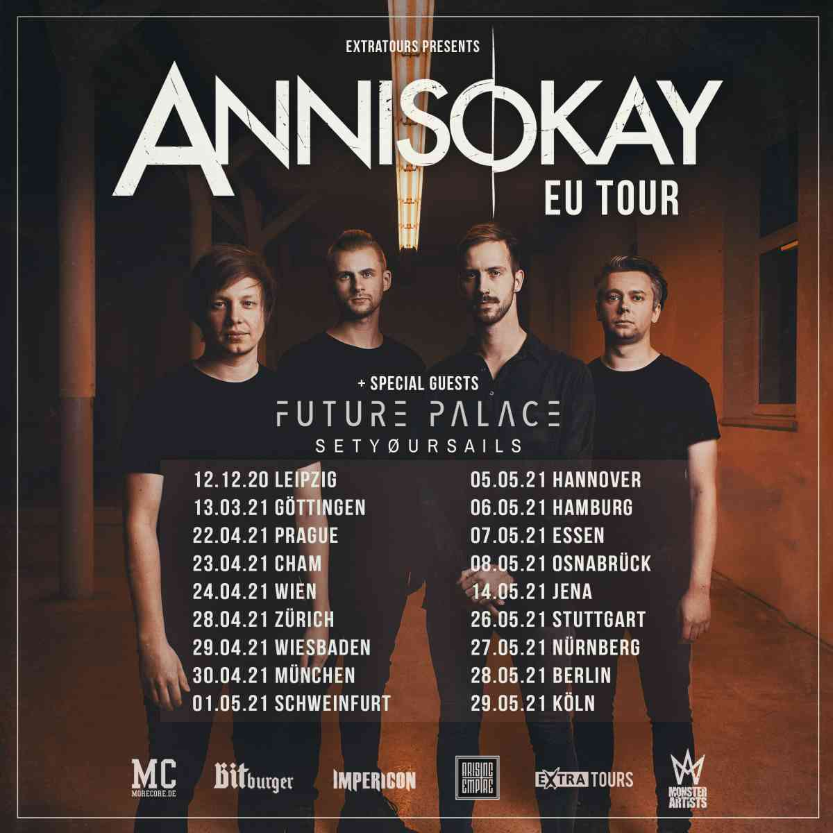 annisokay - eu tour flyer 2021