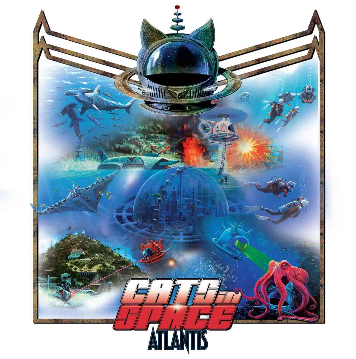 cats in space - atlantis - album cover