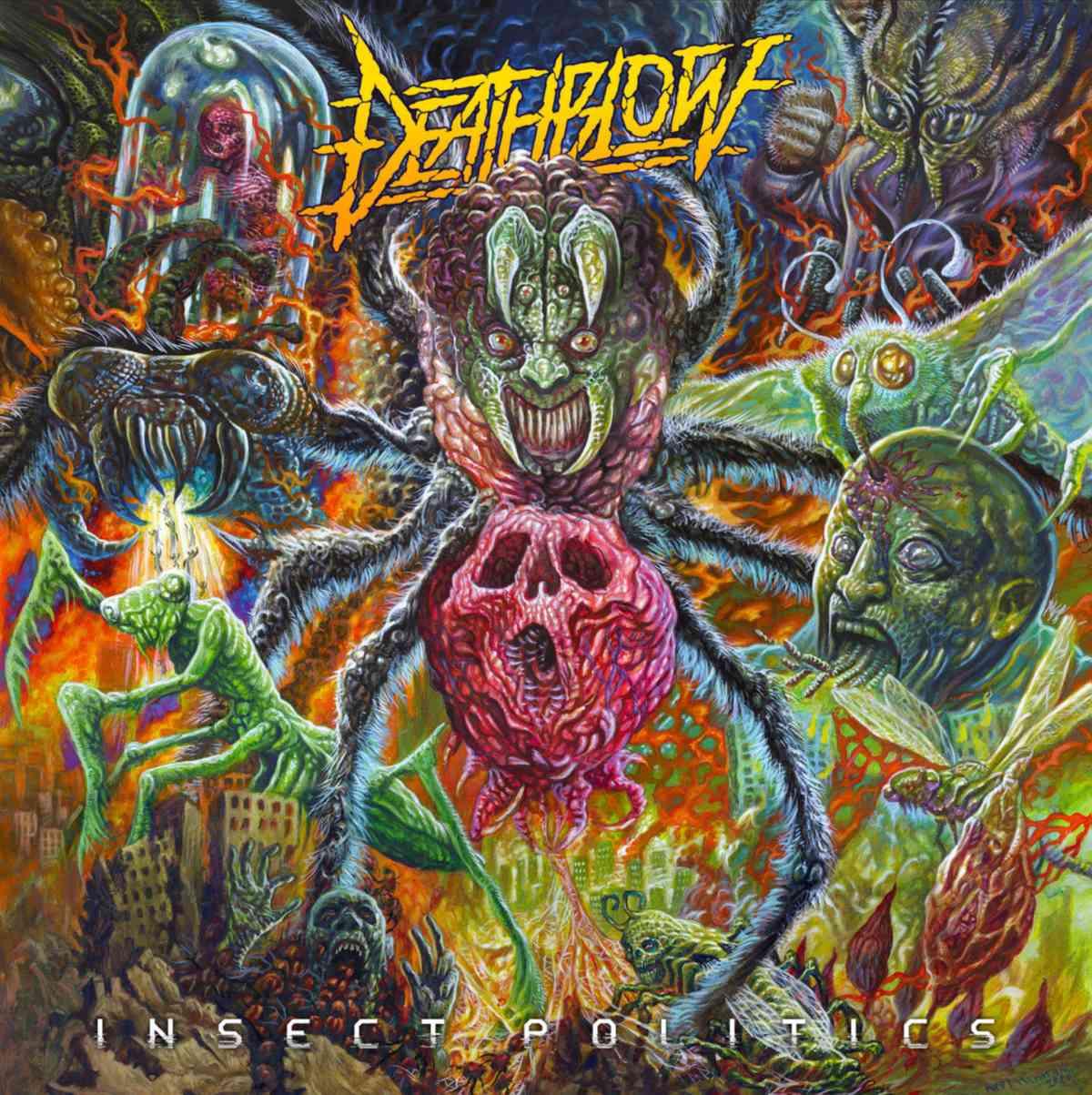 Deathblow - Insect Politics - album cover