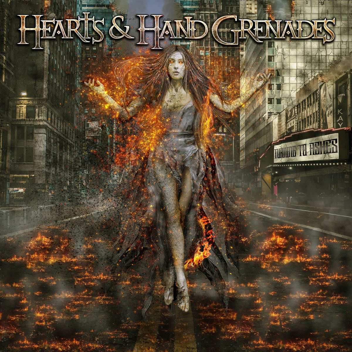 Hearts and Hand Grenades - Turning To Ashes - album cover