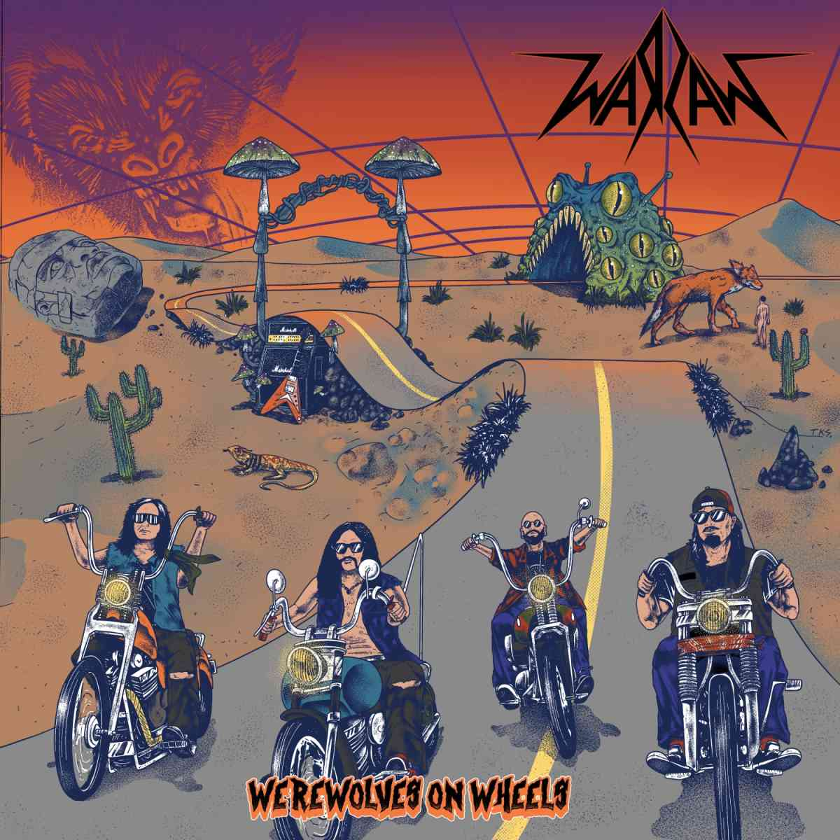 Warzaw - Werewolves on Wheels - album cover