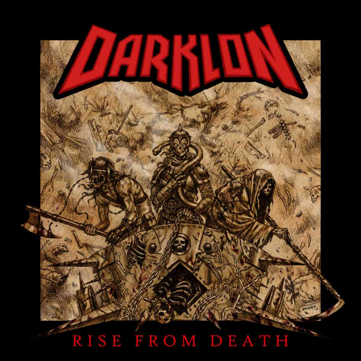 darklon - rise from death - album cover