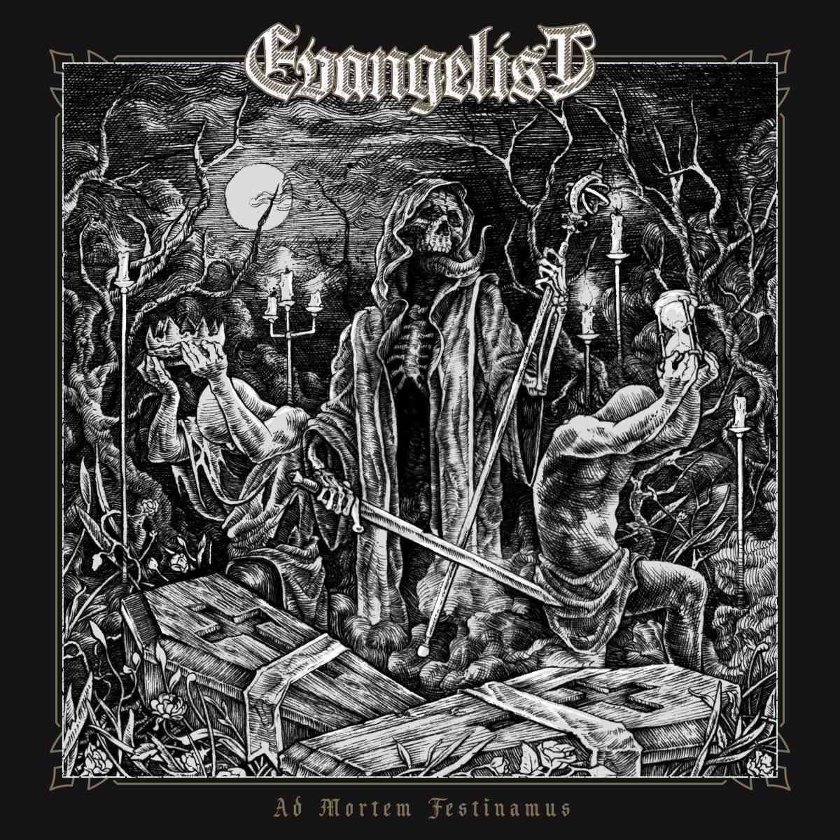 evangelist - Ad Mortem Festimanus - album cover